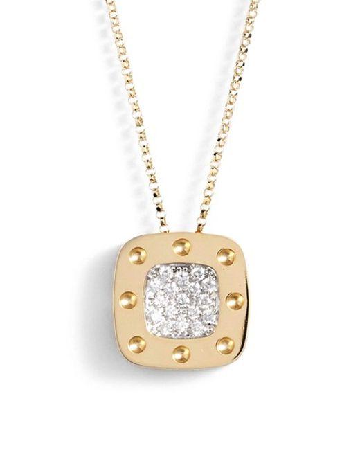 Roberto Coin   Metallic 'pois Moi' Diamond Pendant   Lyst