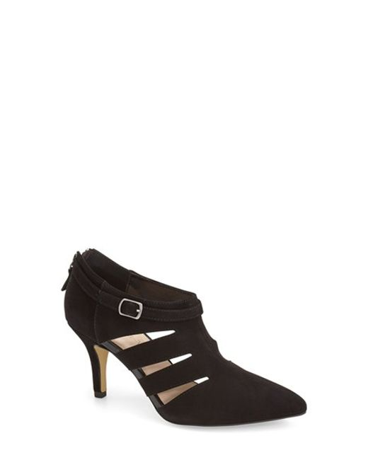 Bella Vita | Black 'Dylan' Cutout Pointy Toe Bootie | Lyst