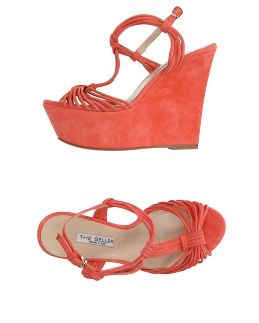 The Seller   Red Sandals   Lyst