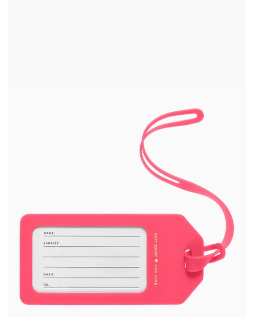 Kate Spade | Petula Stripe Luggage Tag | Lyst
