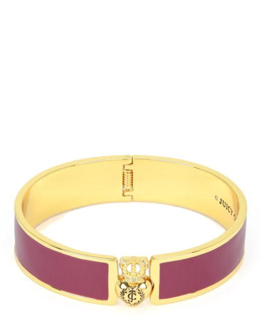 Juicy Couture | Purple Duchess Crest Heart Enamel Bangle | Lyst