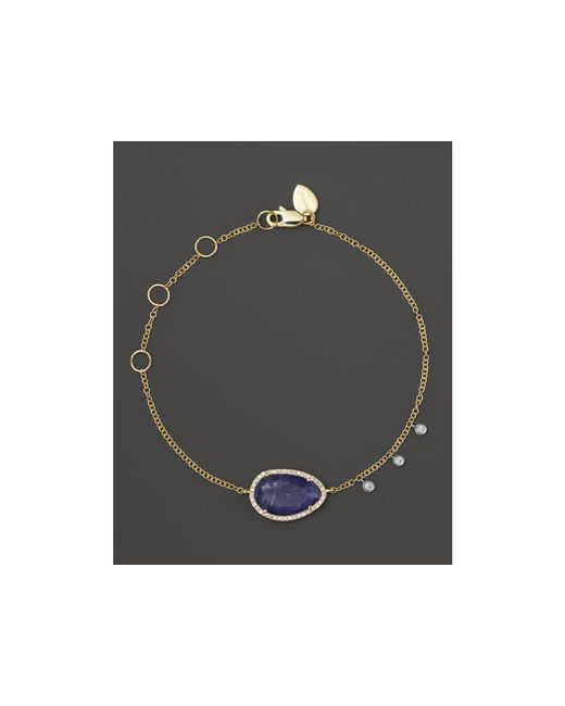Meira T | Purple Diamond And Tanzanite Bracelet In 14k Yellow Gold | Lyst