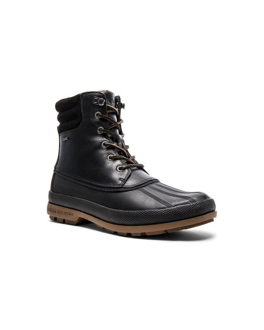 Men S Shoes Sperry Cold Bay Boot Black Gum