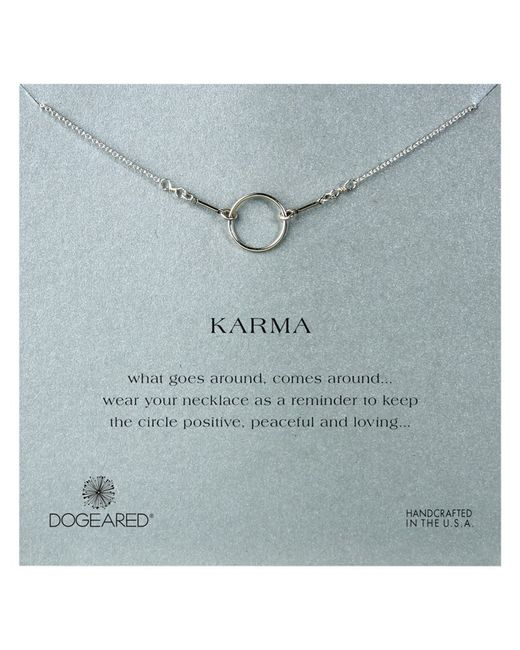 Dogeared | Metallic Sterling Silver Original Karma Necklace | Lyst