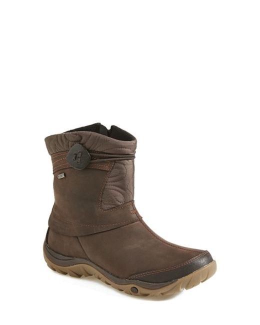 merrell dewbrook waterproof leather boot in brown