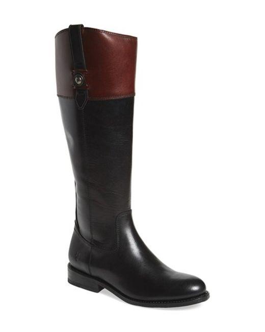 Frye | Black 'jayden Button' Tall Boot | Lyst