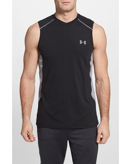 Under Armour | Black 'raid' Heatgear Fitted Tank Top for Men | Lyst