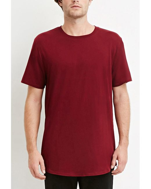 Forever 21 | Purple Side-zip Cotton Tee You've Been Added To The Waitlist for Men | Lyst