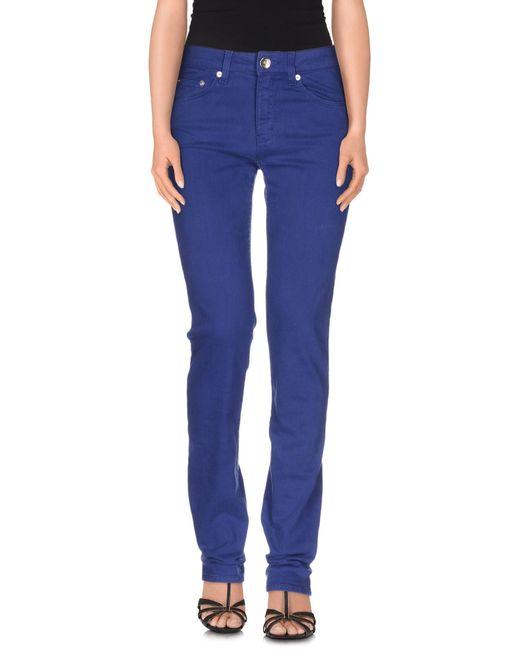 Love Moschino | Blue Denim Pants | Lyst