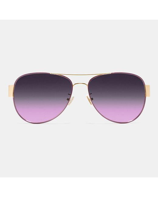 9db3bca6211 Coach Blue Aviator Sunglasses