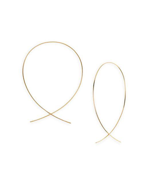 Lana Jewelry | Metallic 'large Upside Down' Hoop Earrings | Lyst
