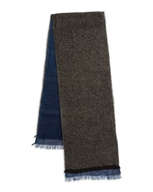 Polo Ralph Lauren | Gray Reversible Mixed Media Checked Scarf for Men | Lyst