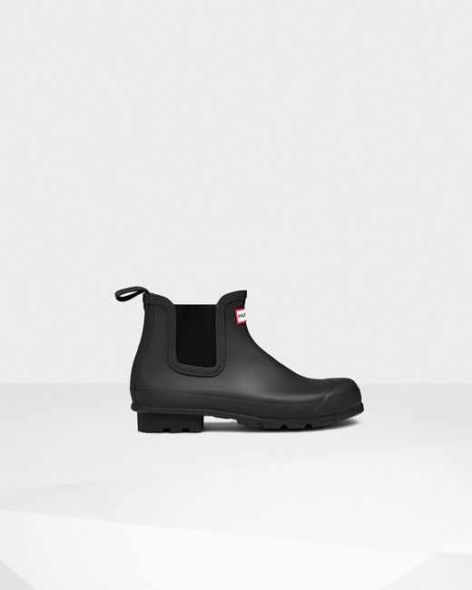 Hunter | Black Men's Original Dark Sole Chelsea Boots for Men | Lyst