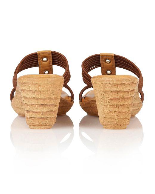 Lotus | Brown Verona Wedge Sandals | Lyst