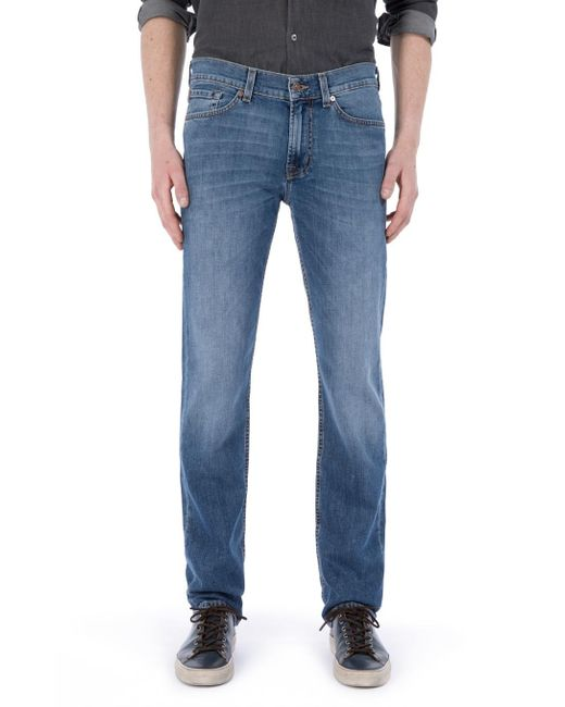 7 For All Mankind | Blue Slimmy New York Mid Used for Men | Lyst