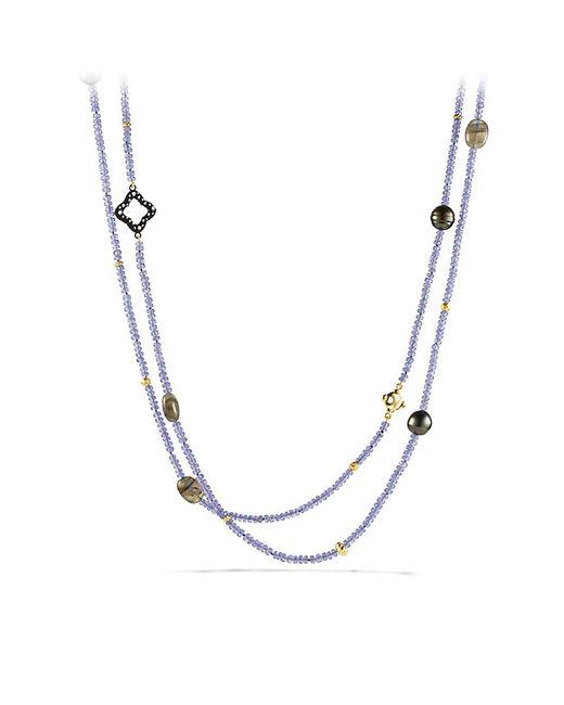 David Yurman | Metallic Limited-edition Bead Necklace With Tanzanite, Labradorite, Diamonds And Gold | Lyst