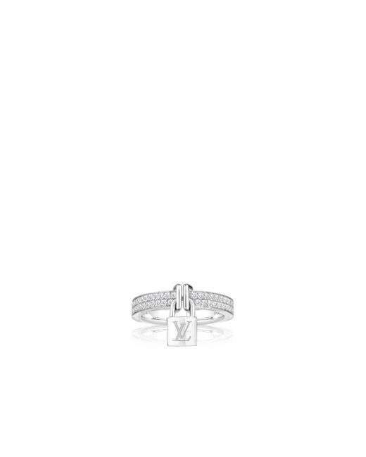 Louis Vuitton | Lockit Ring, White Gold And Diamonds | Lyst
