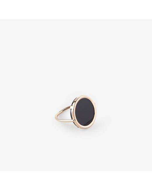 Ginette NY | Pink Onyx Disc Ring | Lyst