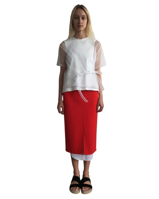 rejina pyo layered pencil skirt in save 54