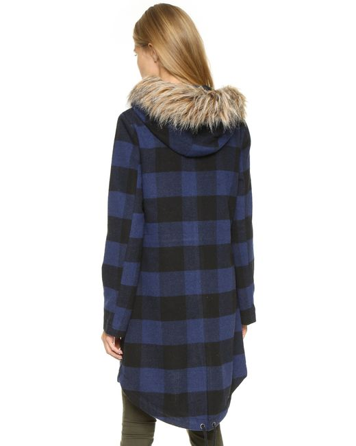 BB Dakota | Black Jaslene Buffalo Plaid Coat - Oilslick | Lyst