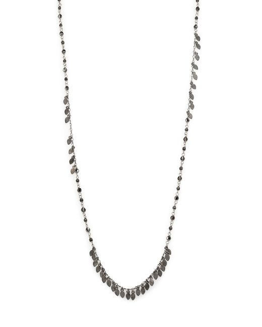 Chan Luu | Metallic Crystal Beaded Leaf Fringe Necklace | Lyst