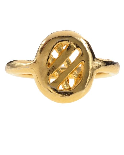 Jill Golden | Metallic Midi Lattice Ring | Lyst
