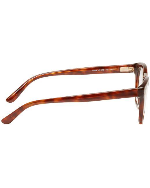 Valentino Eyeglass Frames 2015 : Valentino Brown Rockstud Optical Glasses in Brown for Men ...