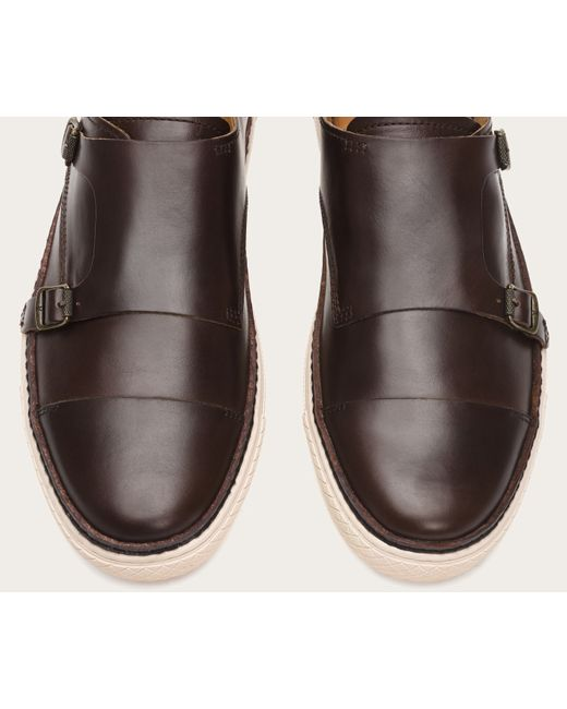 Frye | Brown Gates Double Monk for Men | Lyst