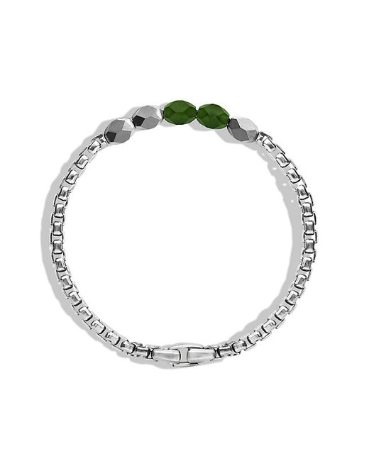 David Yurman | Metallic Faceted Metal Bead Bracelet With Jade for Men | Lyst