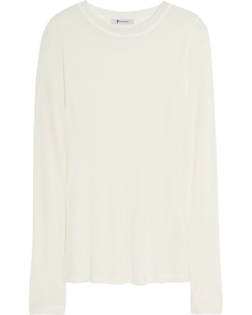 T By Alexander Wang | White Wrap Back Sleeveless Shirt | Lyst