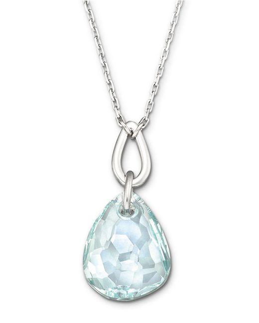 Swarovski | Blue Parallele Micro Necklace | Lyst