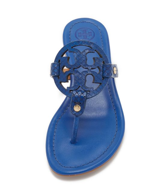 Tory Burch Miller Sandals In Blue Hudson Blue Lyst