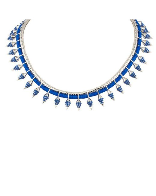 Noir Jewelry | Blue Rippling Water Necklace | Lyst