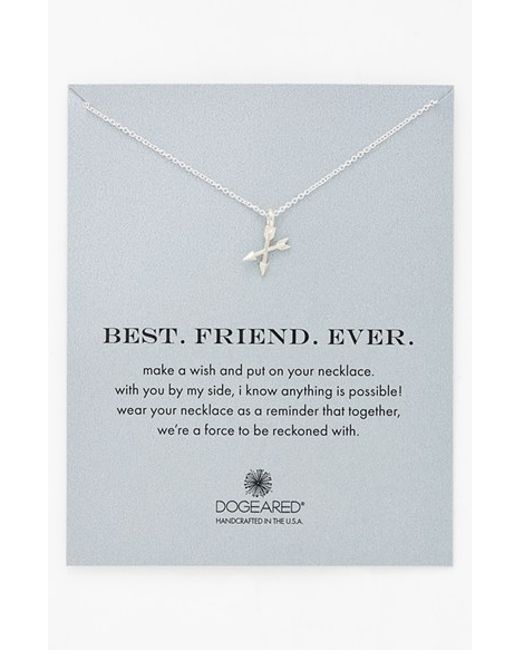 Dogeared | Metallic 'best. Friend. Ever.' Pendant Necklace | Lyst