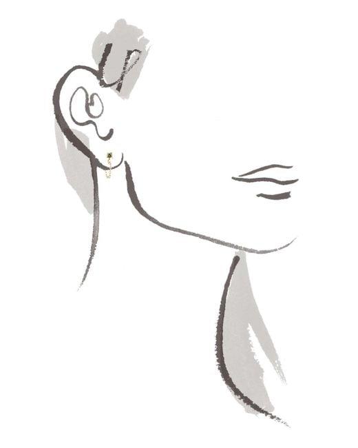 Melissa Joy Manning | Metallic Peridot Post Earrings With Chain Wrap | Lyst