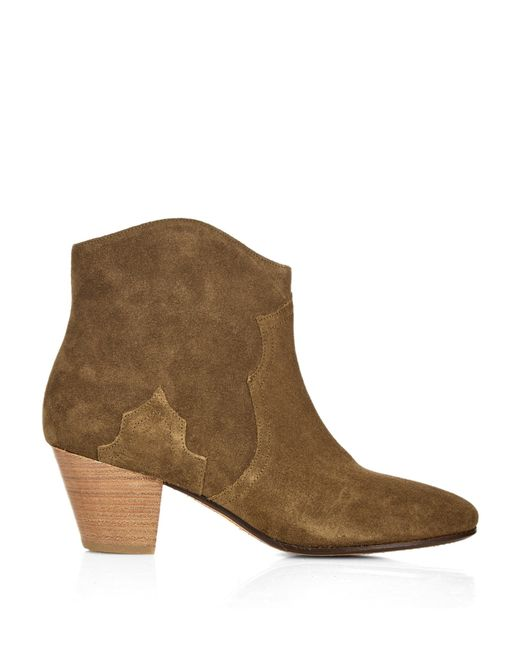 marant 201 toile dicker suede boots in brown lyst
