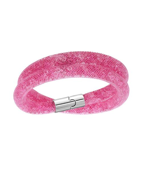Swarovski | Pink Stardust Double Wrap Bracelet | Lyst