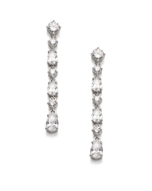 Adriana Orsini | Metallic Liner Post Top Drop Earrings | Lyst