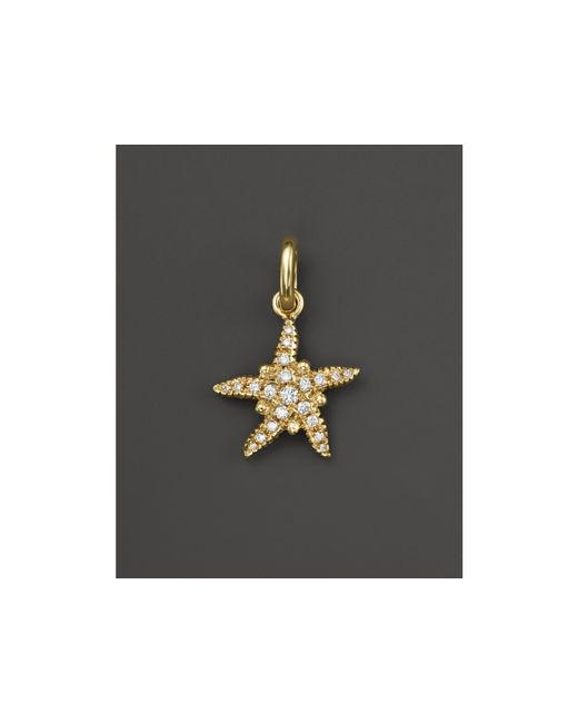 Temple St. Clair | Metallic 18k Gold Pave Diamond Sea Star Pendant | Lyst