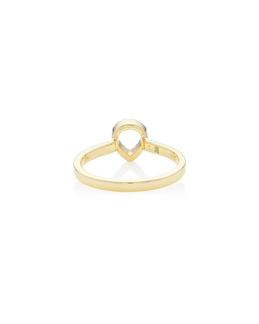 Monica Vinader | Metallic Naida Mini Lotus Open Ring | Lyst