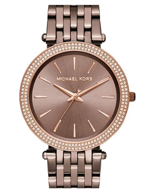 MICHAEL Michael Kors | Pink Michael Kors 'darci' Round Bracelet Watch | Lyst