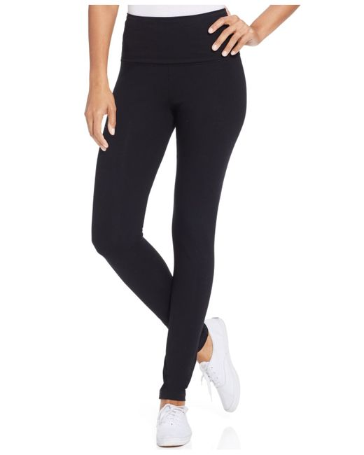 Style & Co. | Black Tummy-control Leggings, Only At Macy's | Lyst
