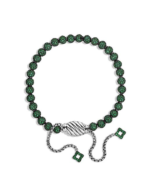 David Yurman | Green Petite Pave Bracelet With Tsavorite | Lyst