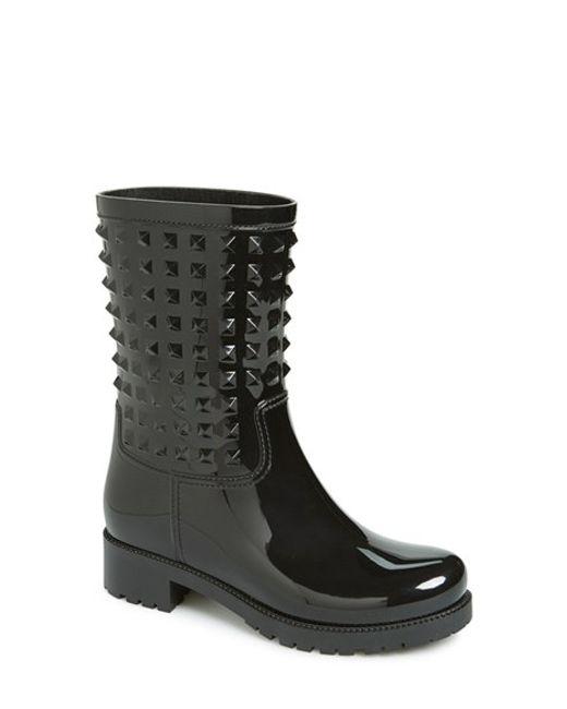 Valentino | Black 'rockstud' Rain Boot | Lyst
