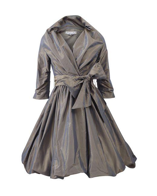 Catherine Regehr | Gray Shawl Collar Bubble Wrap Dress | Lyst