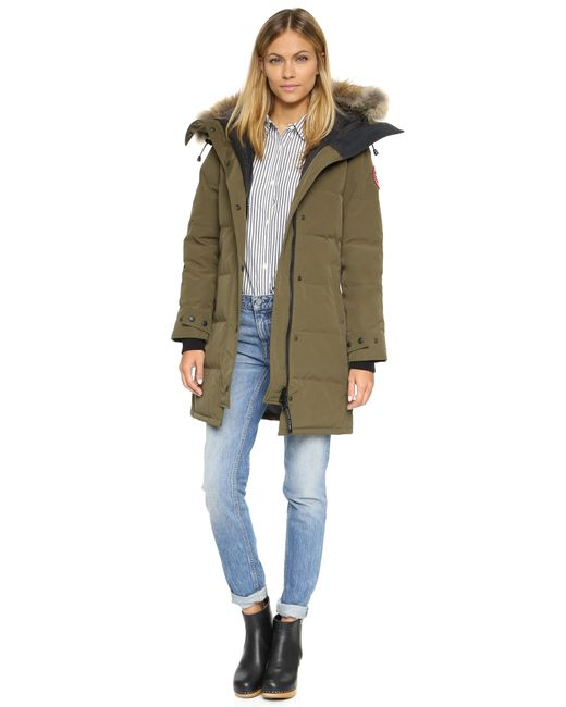 Canada Goose chateau parka online official - Canada goose Shelburne Parka in Green (Military Green)   Lyst