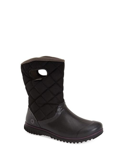Bogs | Black Juno Quilted Snow Boots | Lyst
