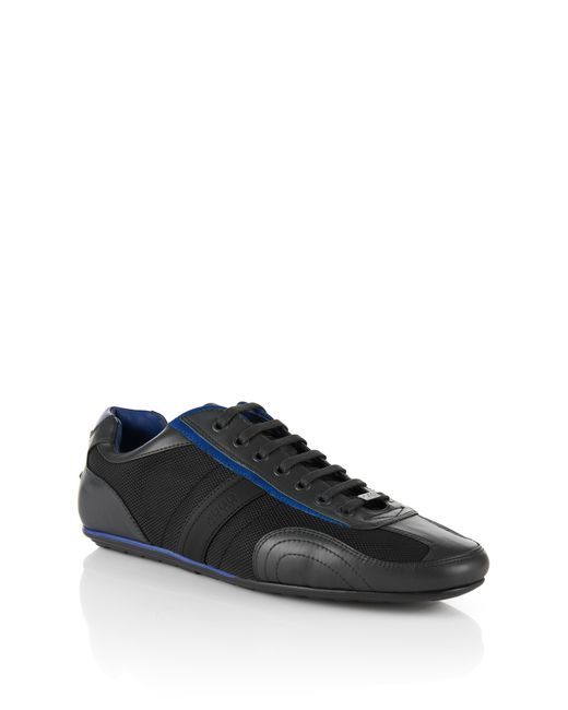 HUGO | Gray Trainers With Leather Trim: 'thatoz' for Men | Lyst