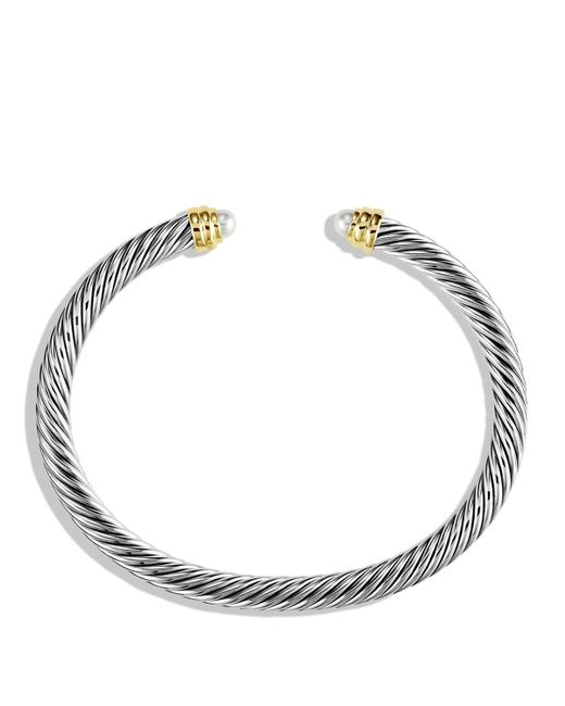 David Yurman | White Cable Classics Bracelet With Pearls And Gold | Lyst