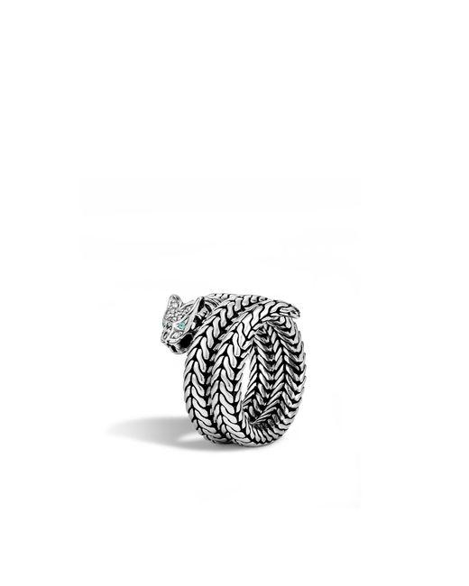 John Hardy   Metallic Macan Coil Ring With Diamonds   Lyst